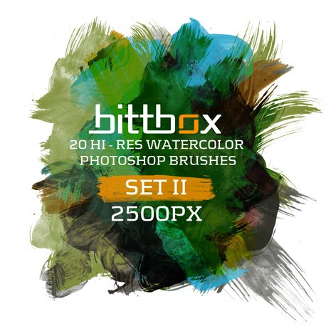 High-Res Watercolor Photoshop Brushes Set 2