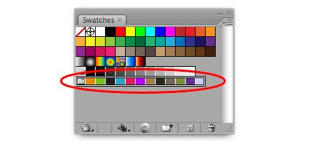 Illustrator CS3: Extract Swatches from Selected Artwork