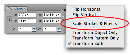 Illustrator 101: Scaling Stokes and Effects Option