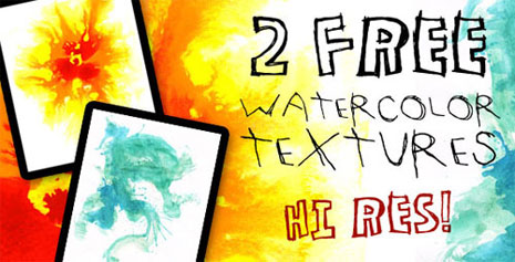 Found Freebie: High-Res Watercolor Textures