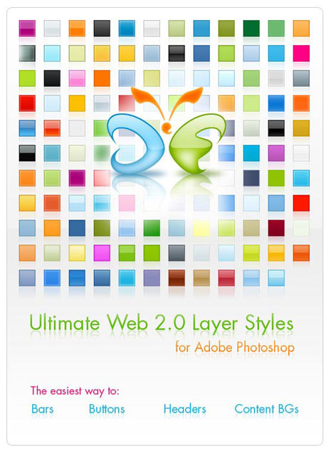 Ultimate Web 2.0 Layer Styles for Photoshop and Gimp