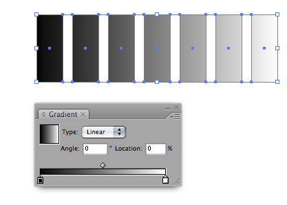 Illustrator 101: One Gradient, Multiple Paths