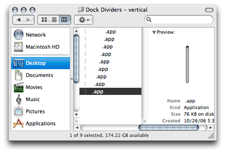 Found Freeware: Dock Dividers (OS X)