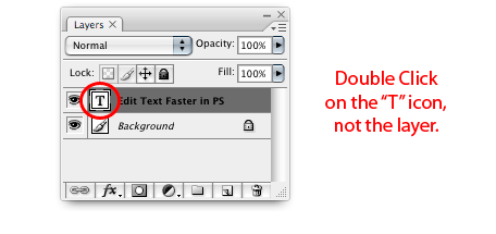 Photoshop 101: Edit Text Faster