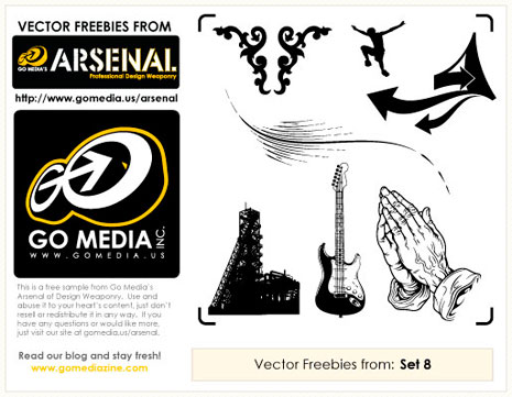 Found Freebie: Go Media Vector Pack 8 Sample
