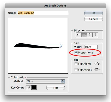 Working with Illustrator 'Art' Brushes: Options and Adjustments