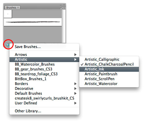 Illustrator: Load Brush Libraries Faster [CS3]