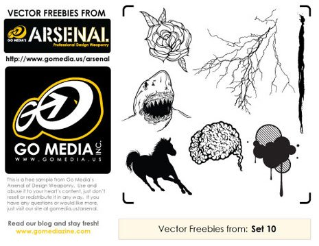 Found Freebie: GoMedia Vector Pack 10 Sampler