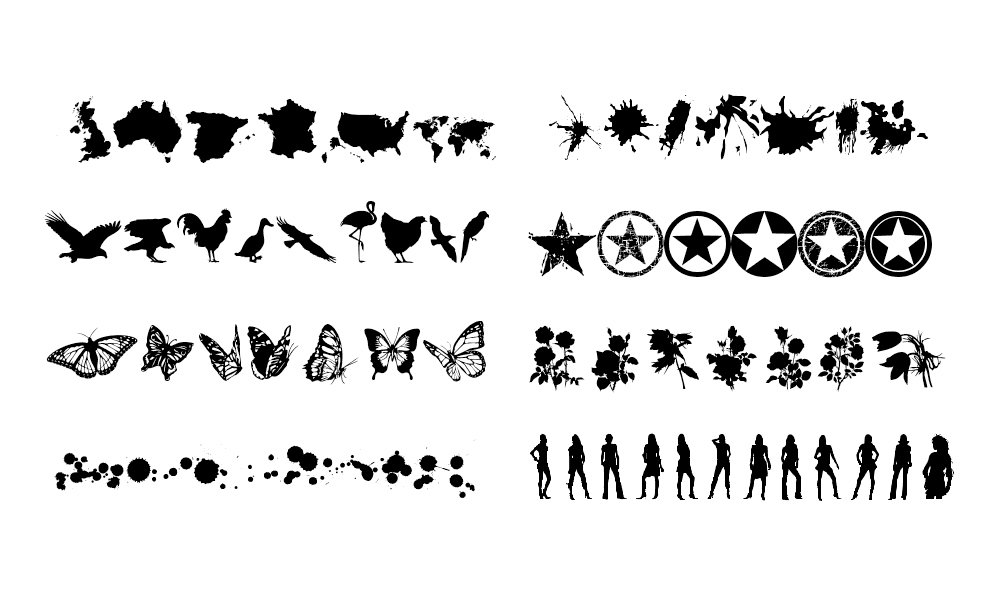 Dingbats Roundup: 16 Incredibly Detailed, Useful (and free