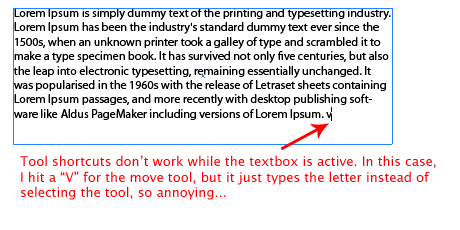 Illustrator 101: Escape Text Boxes without the Mouse