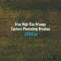 Free High Res Photoshop Brushes: Grungy Texture
