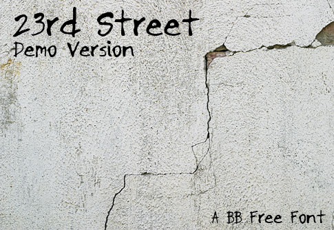 BB Free Font: 23rd Street Demo Version