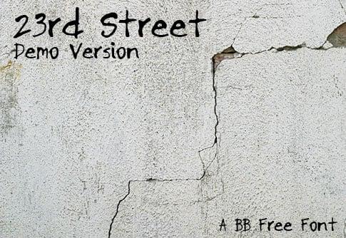 BB Free Font: 23rd Street Demo Version