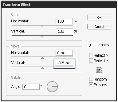 step 05b - Verticle Move setting