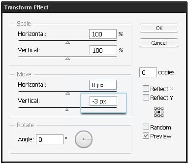 step 06d - Transform settings
