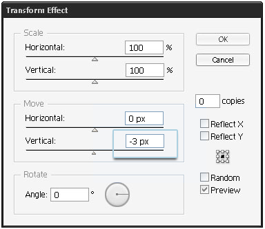 step 06d - Transform settings