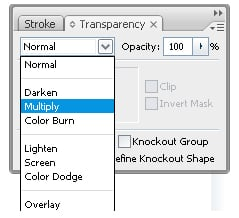step 07b - Changin Fill color mode to Multiply