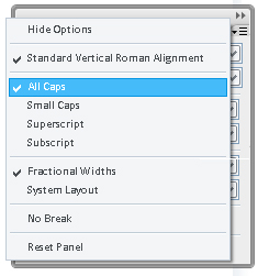 step 07d - Changing tex to all caps