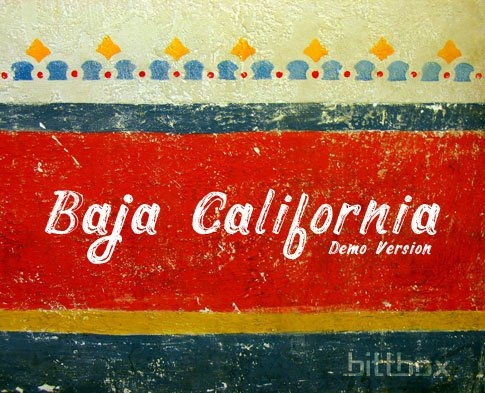 Free Font: Baja California Demo