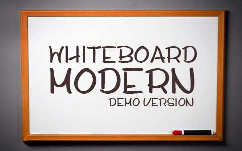 BB Free Font: Whiteboard Modern Demo