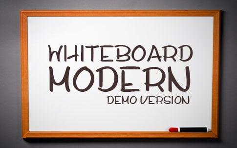BB Free Font: Whiteboard Modern Demo