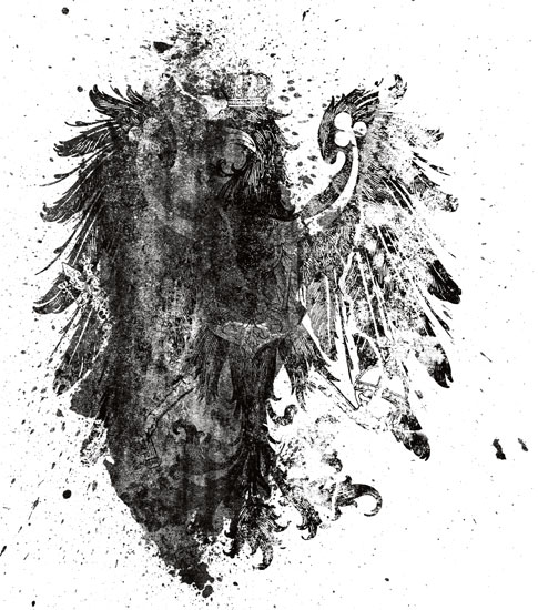 Free Hi-Res Photoshop Brushes: Destroyed Heraldry