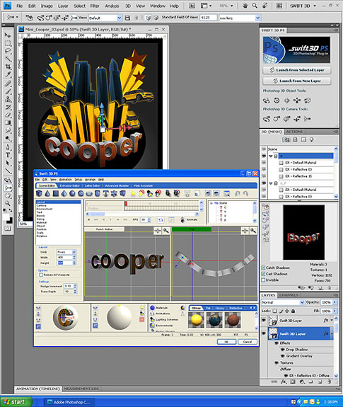 Free Stuff: 3 Copies of Swift3D Photoshop Plugin (Windows Only) - Comment to Win