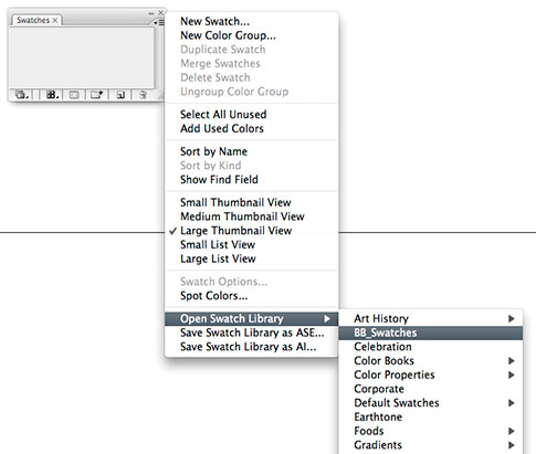 How to save Illustrator Swatches