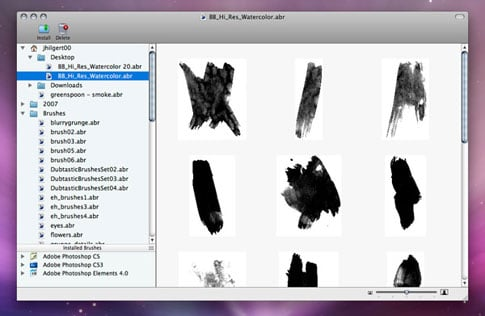 Brush Pilot for Mac - A Photoshop Brush Previewer