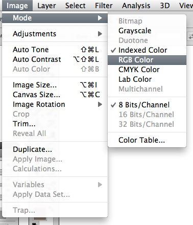 Photoshop 101: Editing Indexed Color Images from the Web