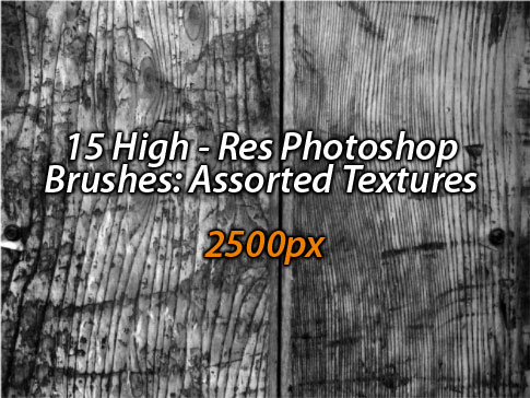 Free Hi-Res Photoshop Brushes: Assorted Texture Set