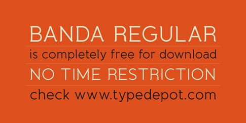 Found Freebie: Banda Regular from Typedepot
