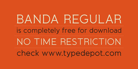 Found Freebie: Banda Regular from Typedepot