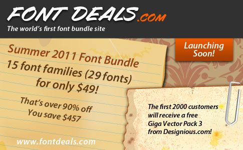 FontDeals.com Coming Soon!