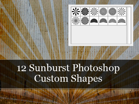 Freebie Friday: 12 Sunburst Photoshop Custom Shapes