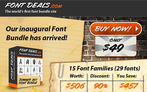FontDeals.com is Live!