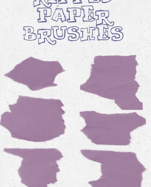Freebie Friday: 6 Ripped Paper Brushes
