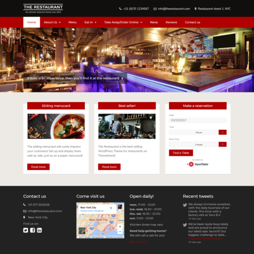 29 Premium Food & Restaurant WordPress Themes