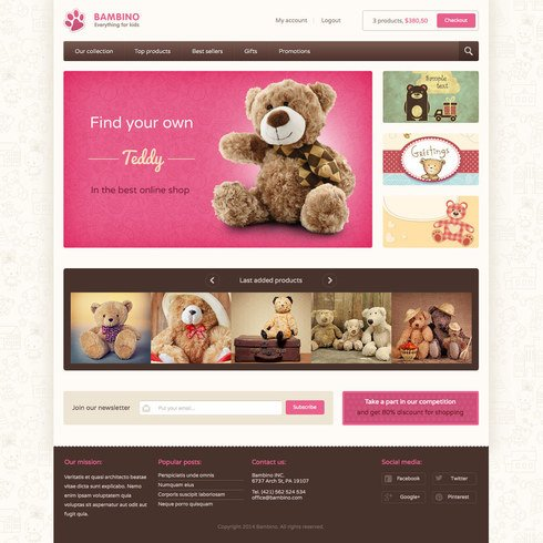 Free Shopify ECommerce Website Templates - Free responsive ebay template