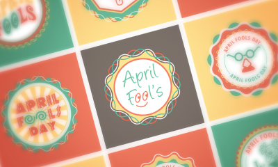 Download Free April Fools EPS Badges