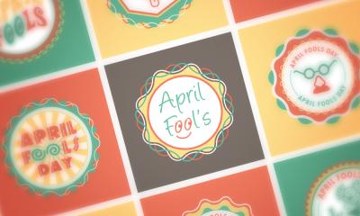 Download Free April Fools EPS Badges