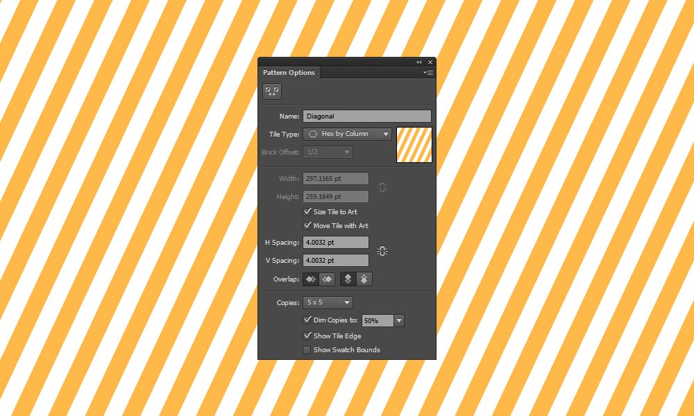 Line Textures Illustrator : How to create a seamless diagonal pattern in illustrator