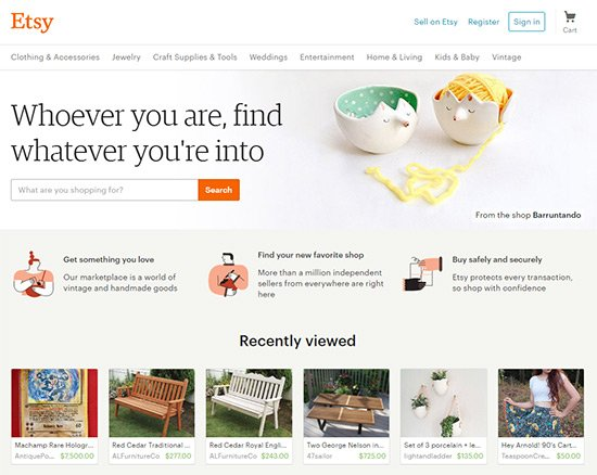 etsy search homepage