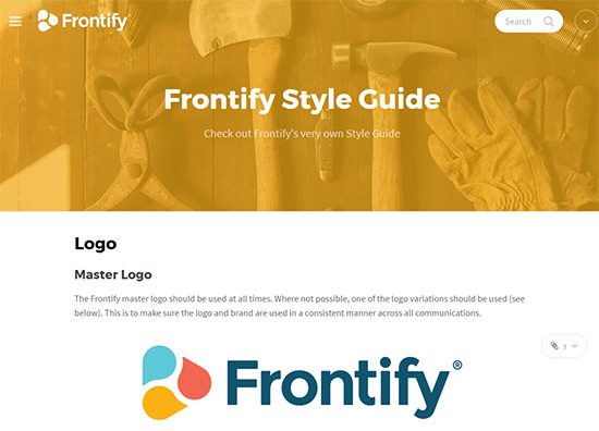 frontify identity guide
