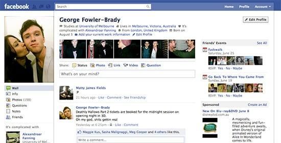 old facebook design circa 2011