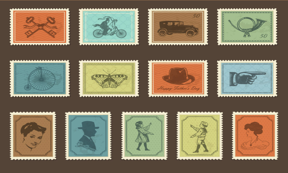 Free Retro Stamp Vector Icons - Bittbox