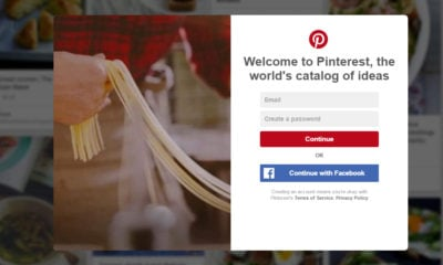 signup pinterest ux