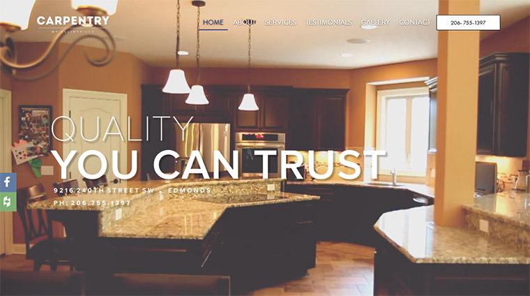 carpentry elliott homepage
