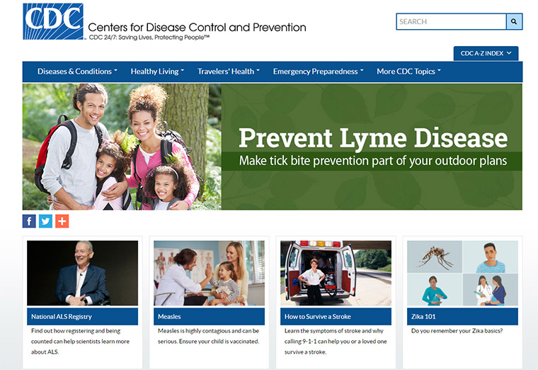 cdc gov website