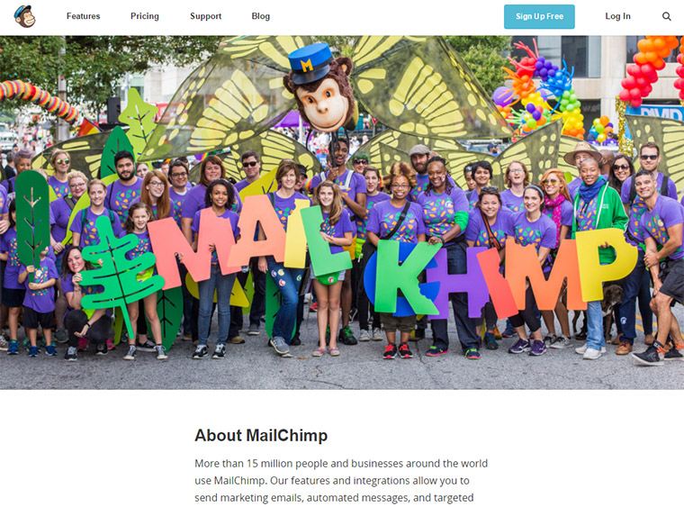 mailchimp about